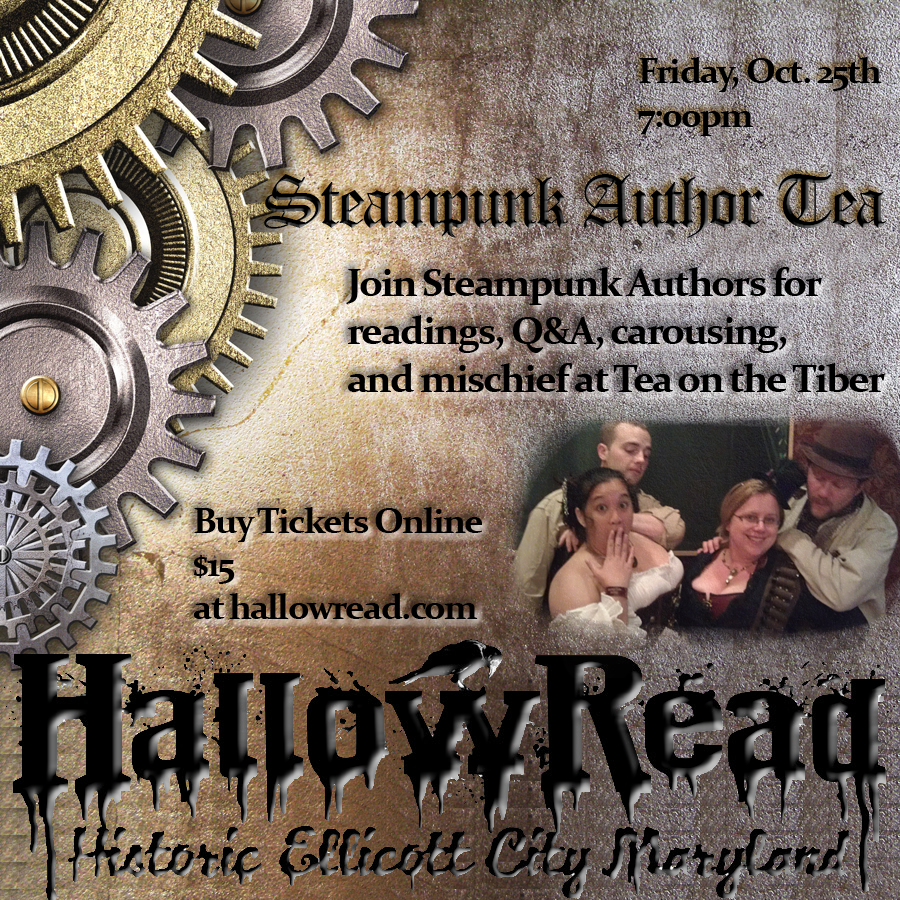 Steampunk Author Tea at Hallowread